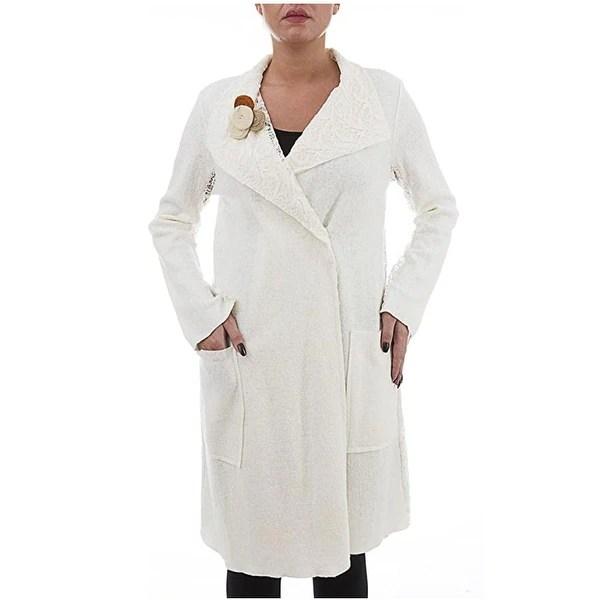 Shop Wool Coat With Lace Details Plus Size Clothing La Mouette Collection Unique Clothing Overstock 32236720