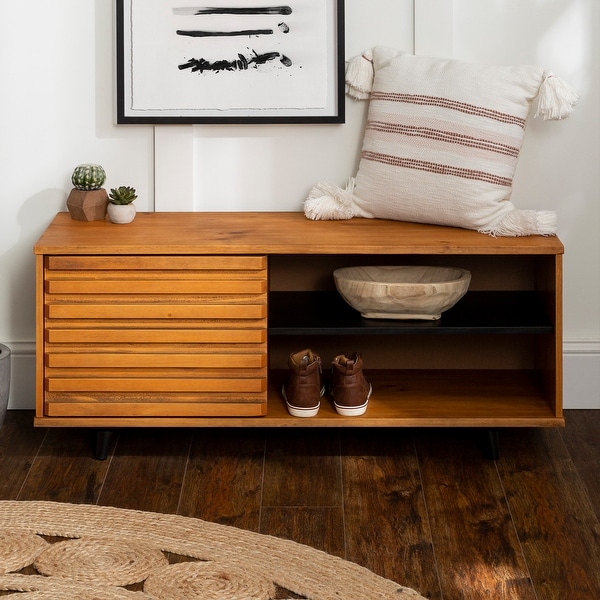 It would make a great shoe storage bench for a foyer or mud room. usd