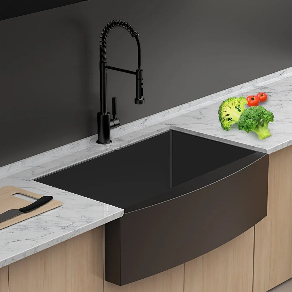 over 33 inch kitchen sinks