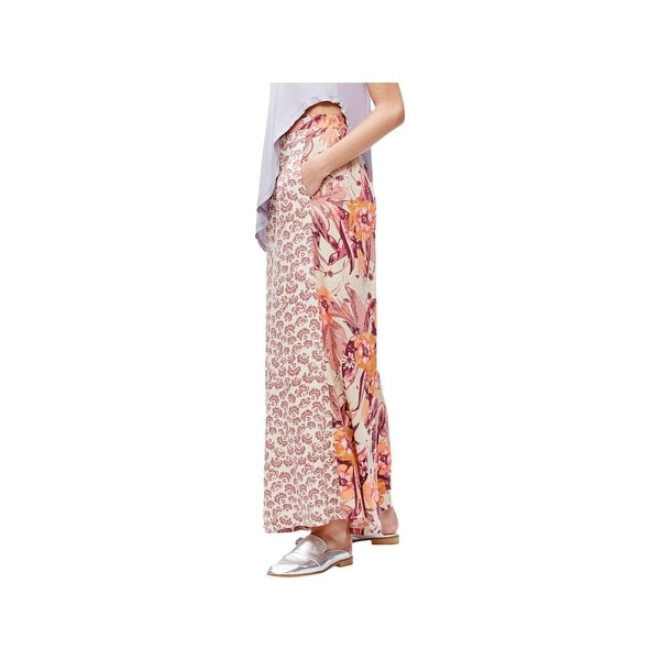 Shop Free People Womens In The Mix Wide Leg Pants Printed Palazzo Free Shipping Today