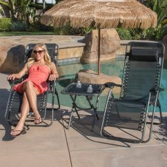 Zero Gravity Chair 2 Pack Inexpensive Chaise Lounge Chairs Shop Belleze Deluxe Folding Table W Amp Cup Holder