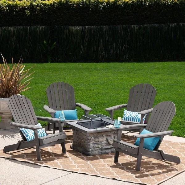 natural concrete patio furniture