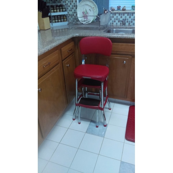 cosco retro counter chair step stool covers jf shop free shipping today overstock com 8026500