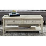 Shop Wood Planked Large Coffee Table With Drawers On Sale Overstock 32046813