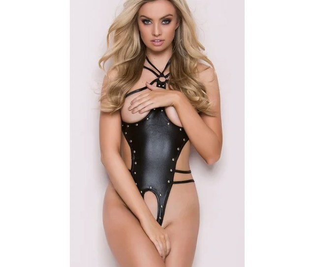 Shop Medusa Faux Leather Cupless And Crotchless Teddy Free Shipping Today Overstock Com 17981107