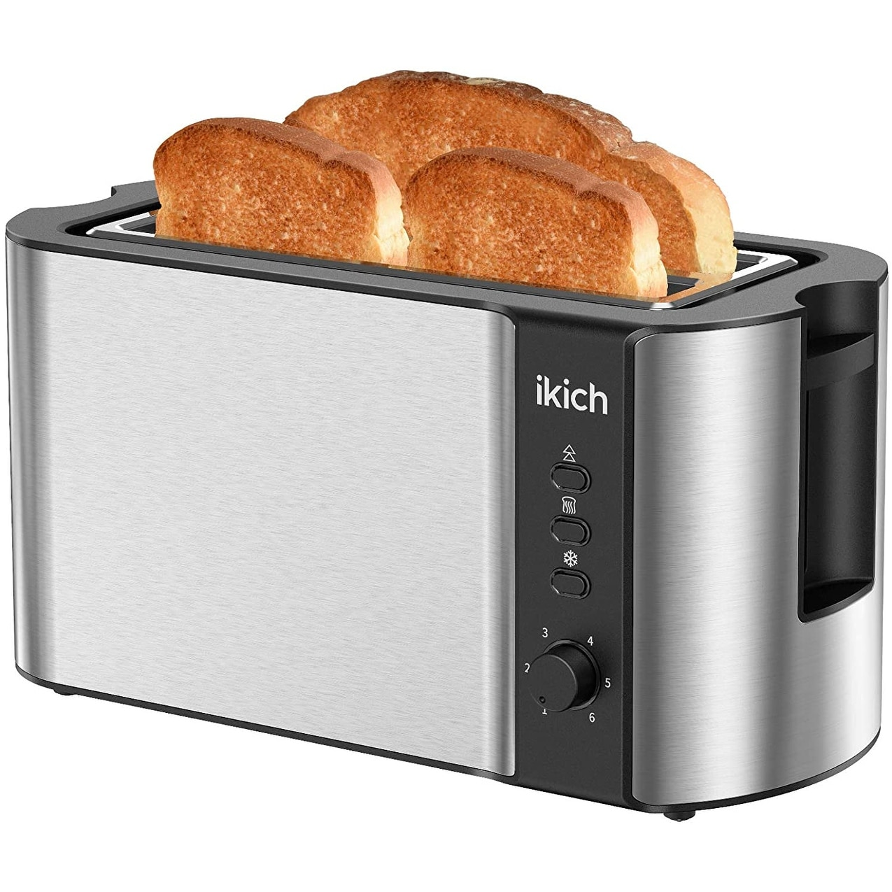 toaster 2 long slot toaster 4 slice stainless steel warming rack tray