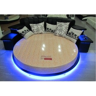 Luxury Design Modern Round Bed With Led Lights King