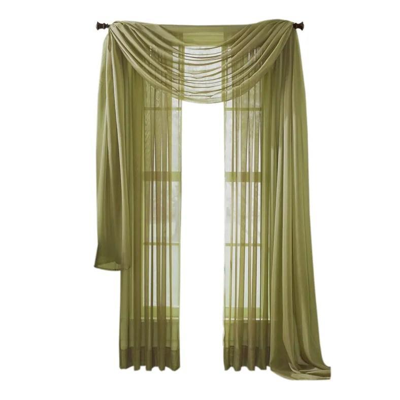 moshells 90 sheer curtain panel sage