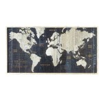 39 75 Black And White Framed Nautical Route World Map Decorative Wall Art Overstock 21107074