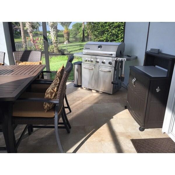 suncast patio storage prep station