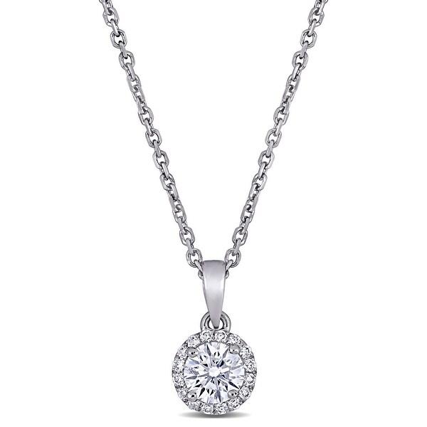 Shop Miadora 18k White Gold 3/8ct TDW Diamond Circular