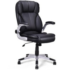 Pu Leather Office Chair Cheap Wedding Cover Rentals Shop Costway High Back Executive Swivel Desk Task Computer Black Free Shipping Today Overstock Com 19567339