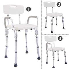 Shower Chair With Back And Armrests Gaming Review Shop Costway 6 Height Adjustable Medical Stool Bath Tub W Amp Armrest