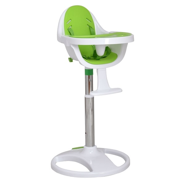 Shop Costway Green Pedestal Baby High Chair Infant Durable