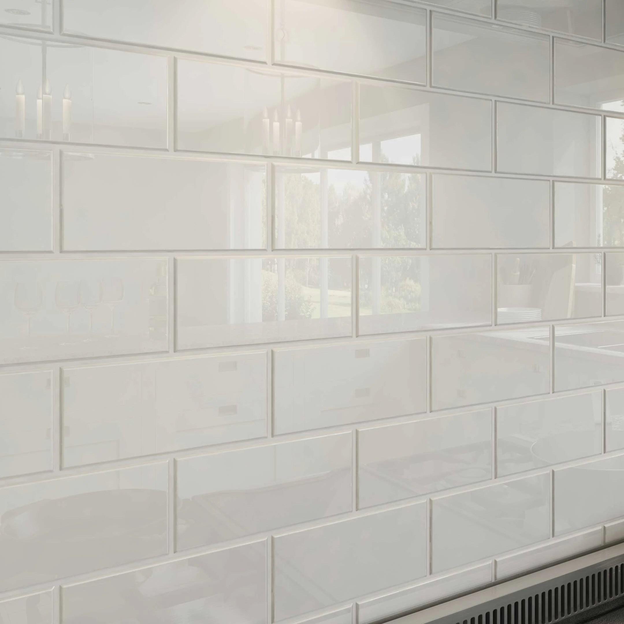 bright white 3x6 glass subway tiles