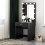 Makeup Vanity With Lighted Mirror Dressing Table Dresser Desk For Bedroom Stool Not Included On Sale Overstock 25628566