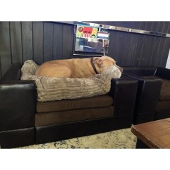 Leather Or Fabric Sofa For Dogs Donde Comprar Fundas Para Sofas En Chile Shop Christopher Knight Home Doggerville Brown Faux Wood Large Rectangular Cushy Dog Free Shipping Today Overstock Com 9229762