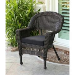 All Weather Garden Chair Lazy Boy Chairs Recliners Shop 36 Espresso Brown Resin Wicker Outdoor Patio Black Cushion Free Shipping Today Overstock Com 16963193