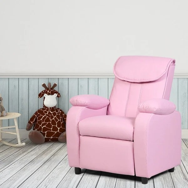 children living room furniture lime green and black ideas shop costway kid recliner sofa armrest chair couch home pink