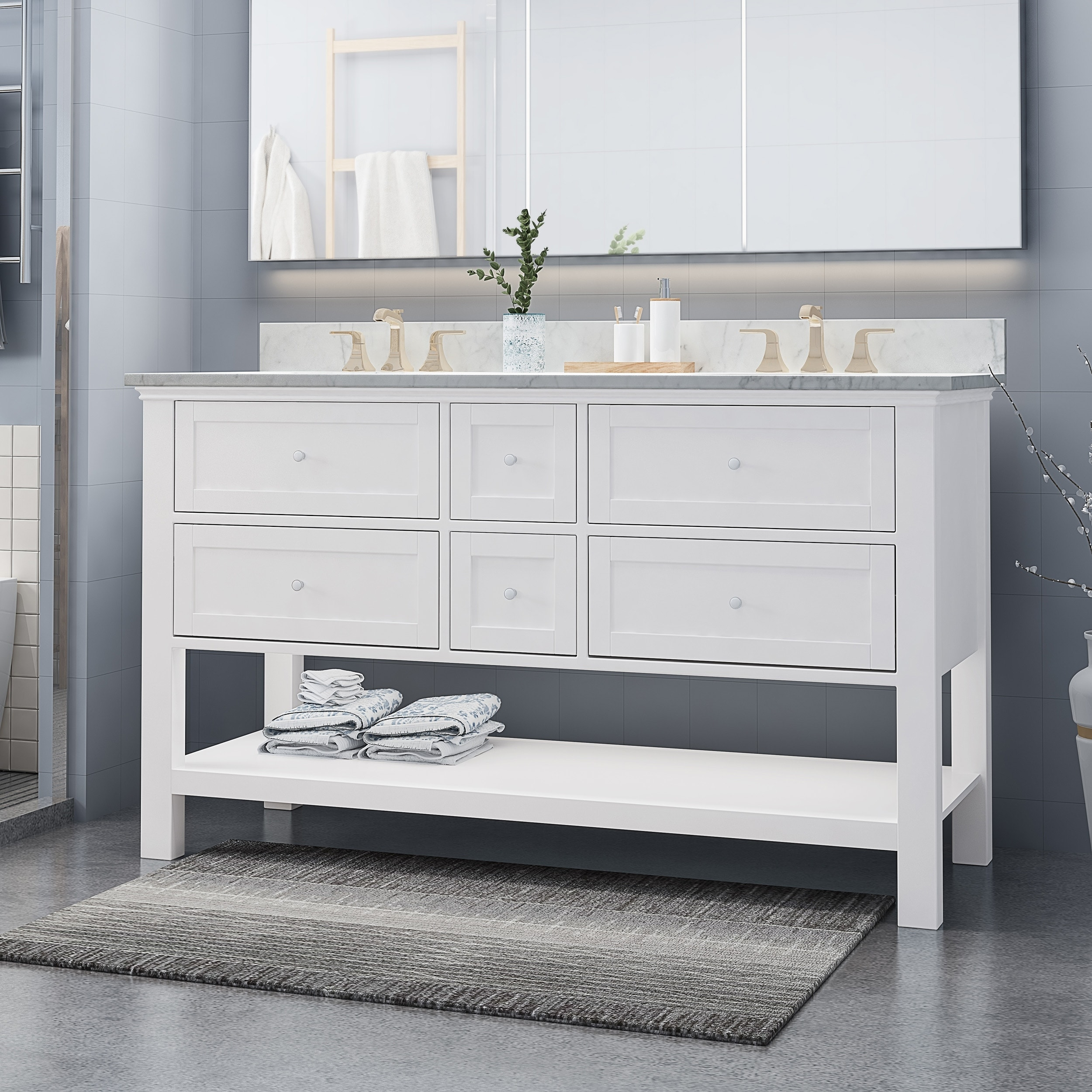 douvier wood double sink bathroom vanity by christopher knight home