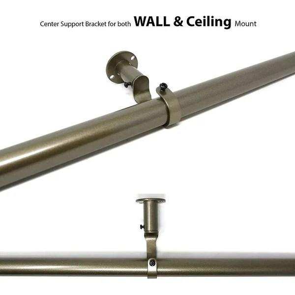 1 inch curtain rod brackets premium