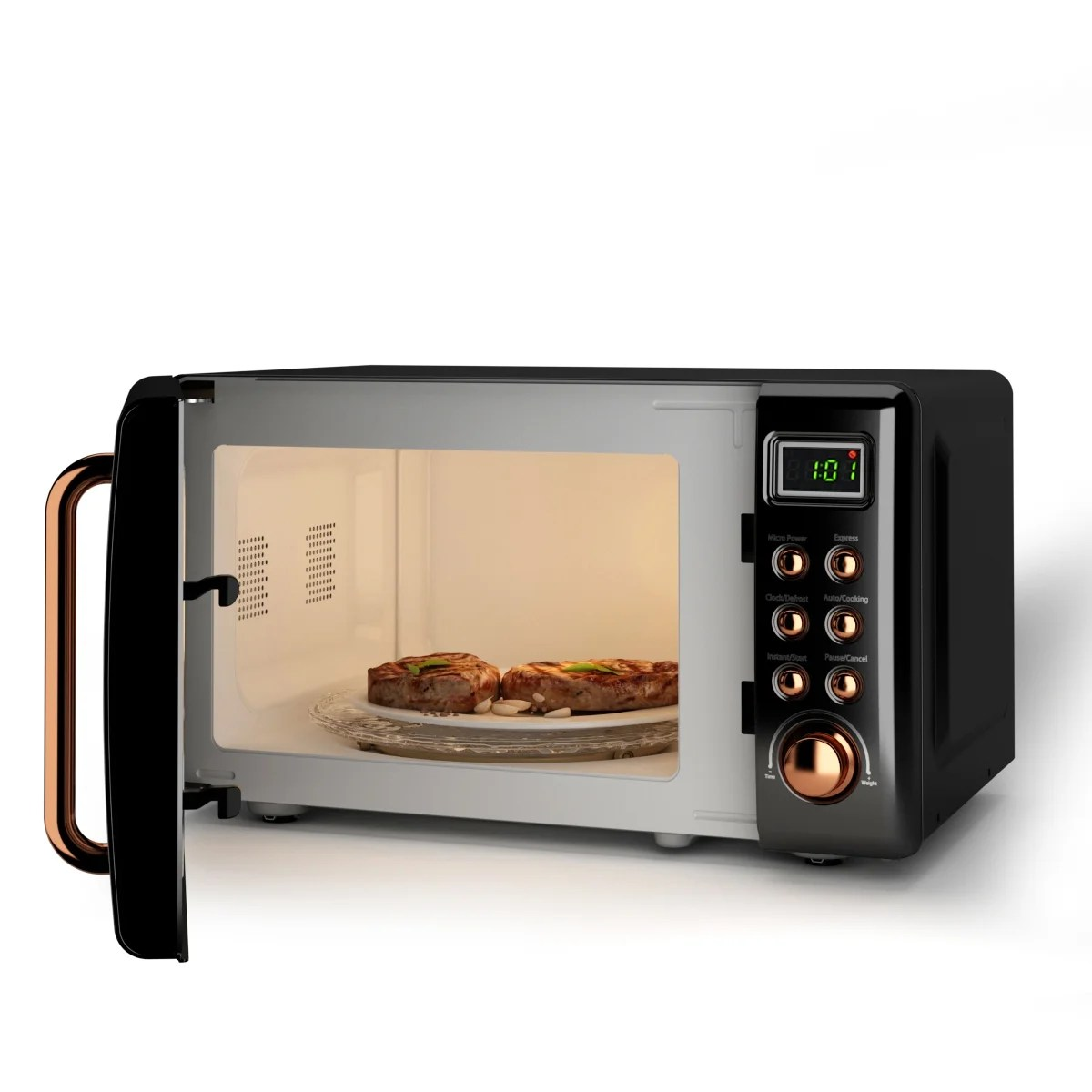 costway 0 7cu ft retro countertop microwave oven 700w led display