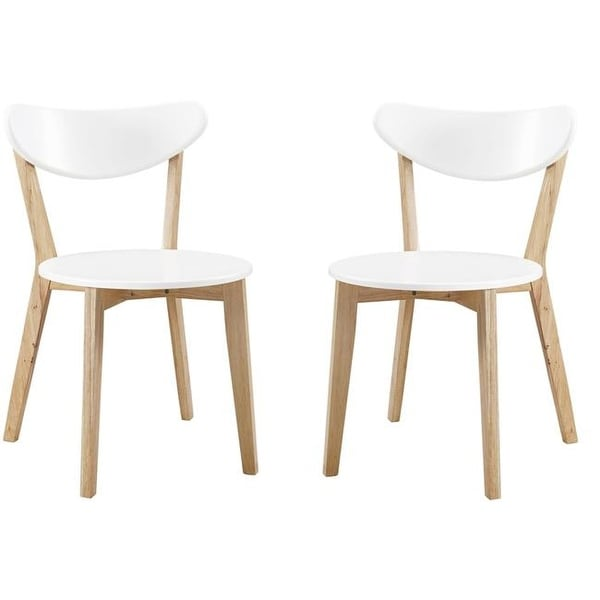 kitchen dining chairs utility carts for shop walker edison retro modern wood set of 2