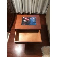Mid-Century Single Drawer Wood Side Table - Free Shipping ...
