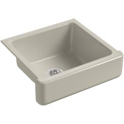 Kohler Cast Iron Kitchen Sink Glass Cabinet Shop K 5664 Whitehaven 23 1 2 Single Basin Under Mount Short Apron Front White N A Free Shipping Today Overstock Com