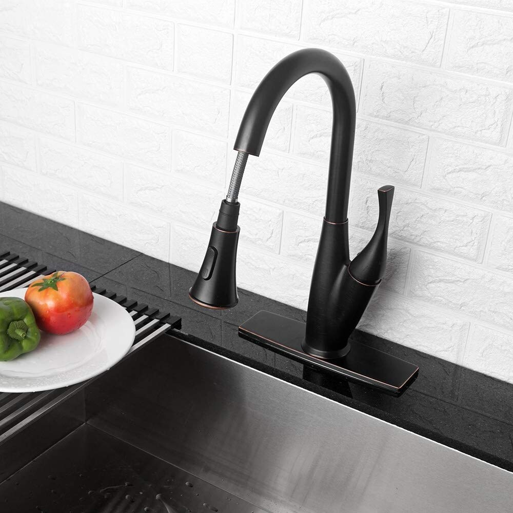 buy bronze finish kitchen faucets