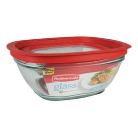 rubbermaid kitchen storage containers remodeling lancaster pa shop 2856006 glass food container with easy find lid 8 cup