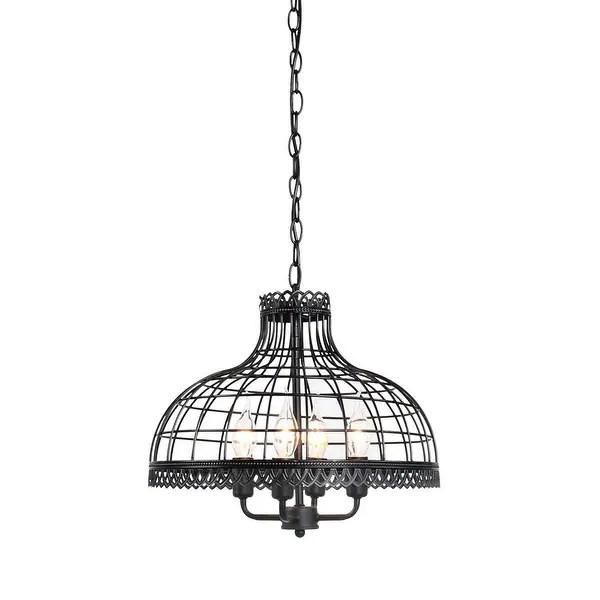 Shop Vintage industrial black pendant lamp,Net shade