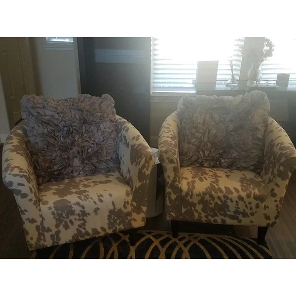 cowhide print accent chair cane for chairs suppliers shop the gray barn goddard on sale free shipping today overstock com 17657949