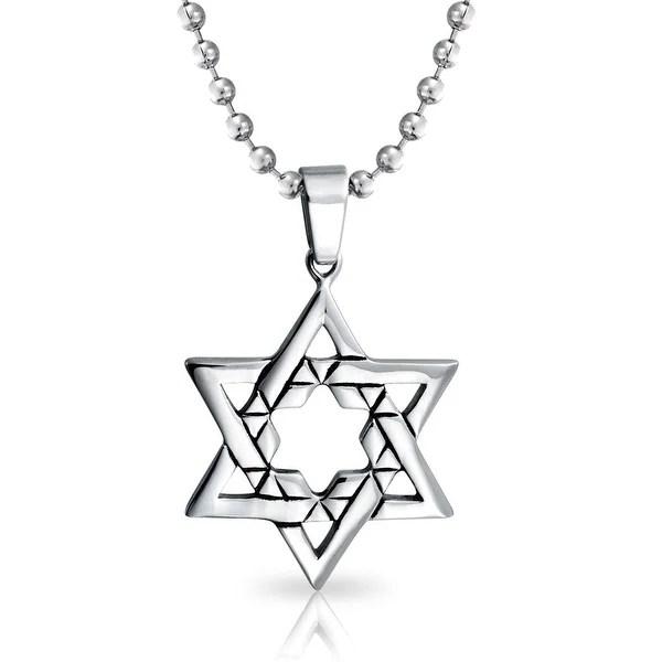 Shop Hanukkah Religious Large Jewish Star Of David Pendant