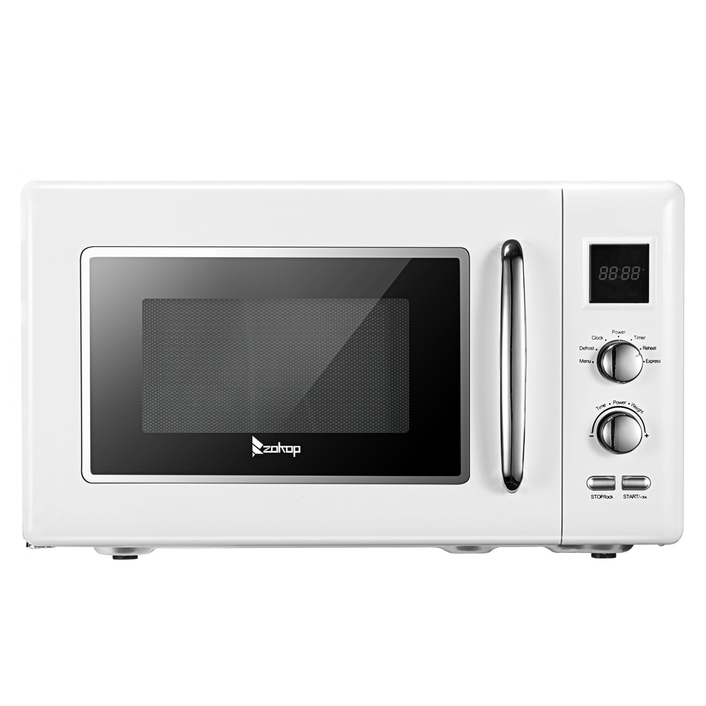 zokop 0 9 cu ft retro microwave with 5 pre programmed settings