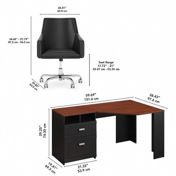 wheaton 60w reversible corner desk and