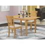 3 Piece Small Kitchen Table Set Oak Overstock 14366579 Microfiber