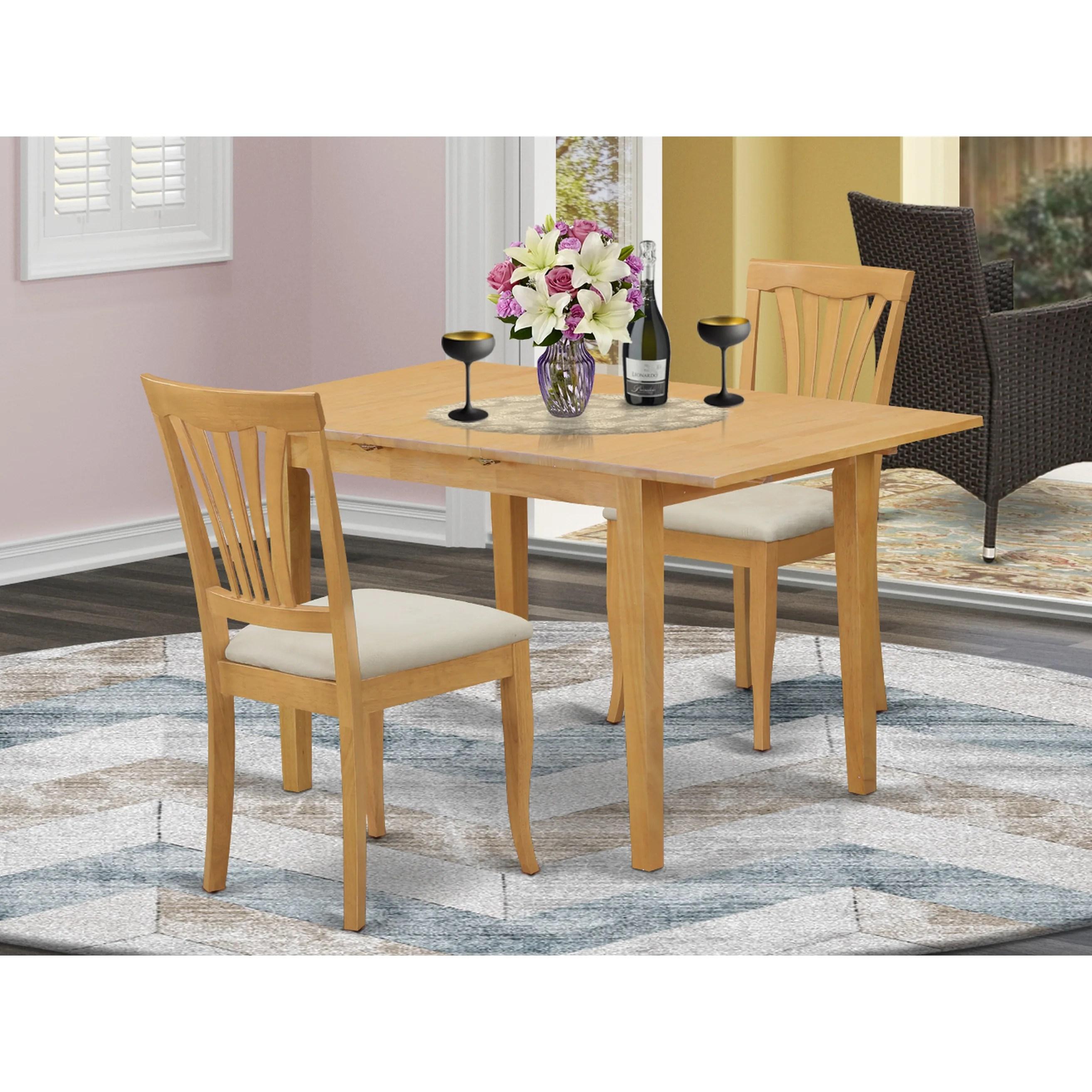 Shop 3 Piece Small Kitchen Table Set Oak Overstock 14366579