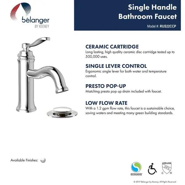 belanger rus22 single handle bathroom
