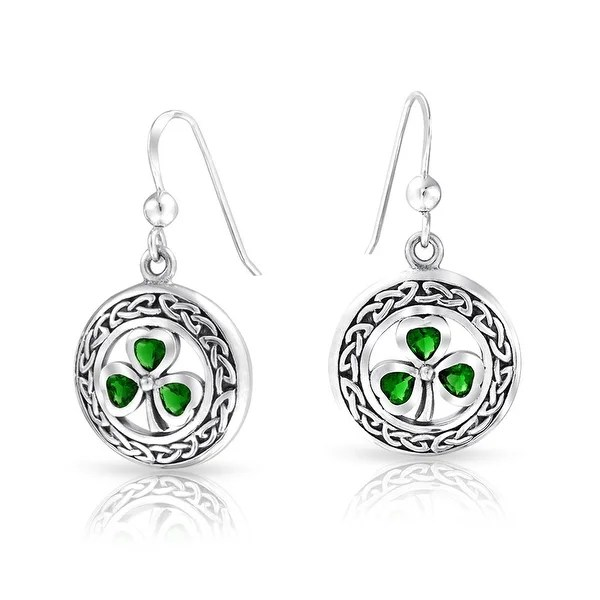 Shop Celtic Knot work Lucky Clover Kelly Green Circle
