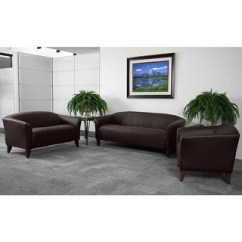Commercial Sofas And Chairs Chair Leg Covers Brown For Less Overstock Radisson 3pcs Office Leather Sofa Sets Wood Ft