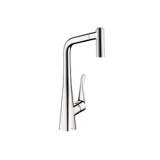 hansgrohe kitchen faucet cherry wood table and chairs buy faucets online at overstock com our best 14820 metris pull out with high arc spout magnetic docking