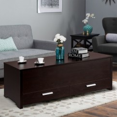 Trunk Coffee Table Living Room Furniture Best Color For Walls Asian Paints Shop Gymax With Hidden Compartment Sliding Top Amp 2 Drawers