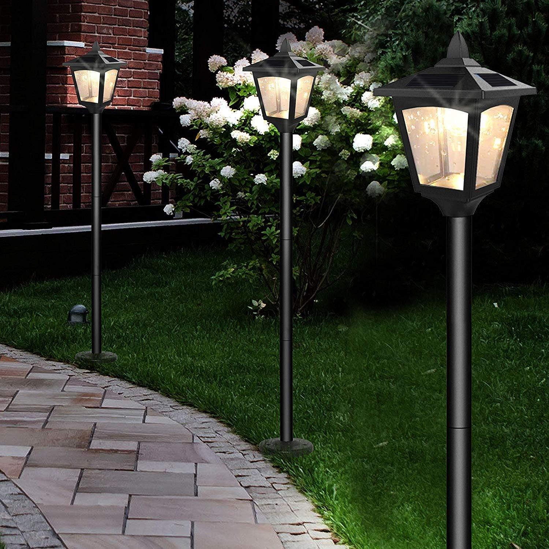 outdoor solar powered lamp post street