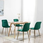 Ivinta Modern Living Room Accent Armless Chairs Set Of 4 Velvet Dining Chairs Overstock 31756368 Yellow