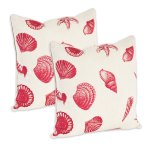 Nautical Shell Print Throw Pillow Cover Set Of 2 Overstock 31912131
