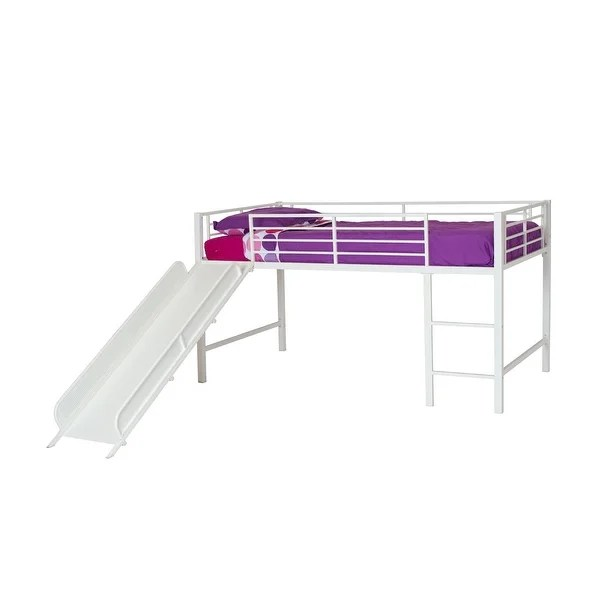 https www overstock com home garden dhp junior twin loft bed with slide and curtain set 25694577 product html