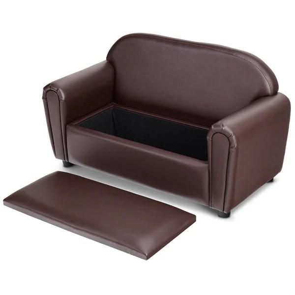 gymax kids sofa armrest chair lounge