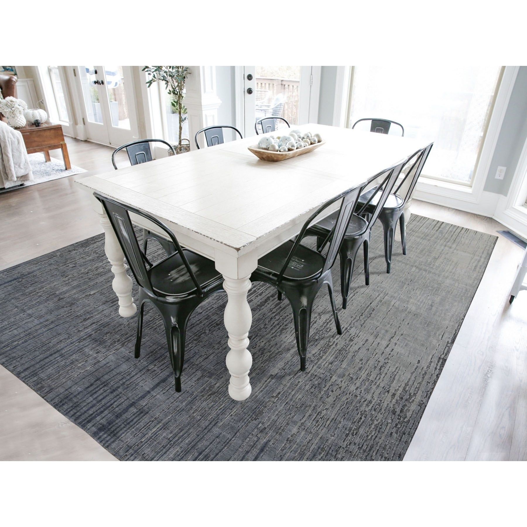 Shop Shahbanu Rugs Gray Ombre Design Pure Silk Hand Knotted Oriental Rug 7 10 X 10 2 7 10 X 10 2 On Sale Overstock 31425374