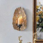 Shop Vivien 14 Abstract Gold Wall Candle Sconce With Glass Hurricane Overstock 31805204